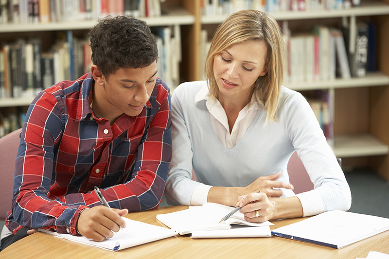 Student with tutor