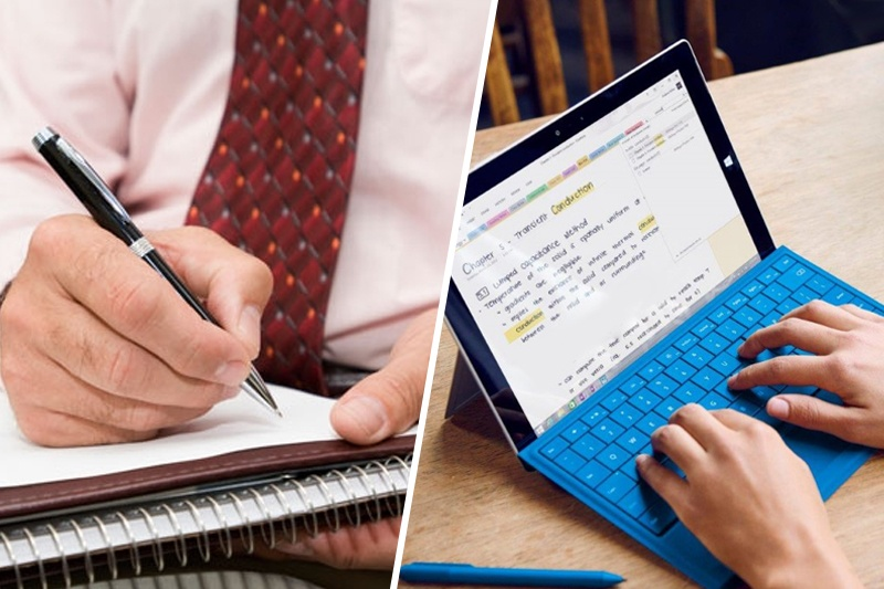 Typing notes vs writing notes
